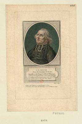 J.F. Maury prieur de Lions, député de Peronne [estampe]