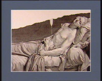[Le  Pelletier de Saint-Fargeau sur son lit de mort] [estampe]