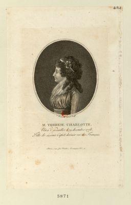 M. Therese Charlotte née à Versailles le 19 decembre 1778, fille de Louis Capet, dernier roi des Français : [estampe]