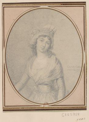 Charlotte Corday d'Armans 1793 [dessin]