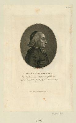 Jean Louis Gouttes né à Tulles en 1740, député à l'Ass.blée nat.le, fut evêque et décapité le 7 germinal l'an 2 de la Rép. : [estampe]