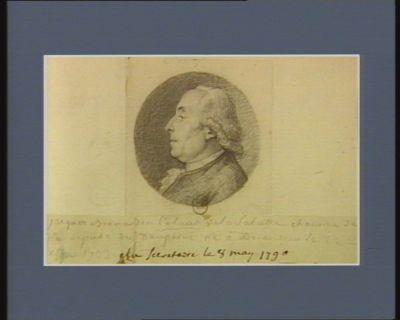 Jacques Bernardin Colaud de La Salcette chanoine de Die, député du Dauphiné né <em>à</em> Briançon le 22 X.bre 1733 élu secrétaire le 8 mai 1790 : [dessin]