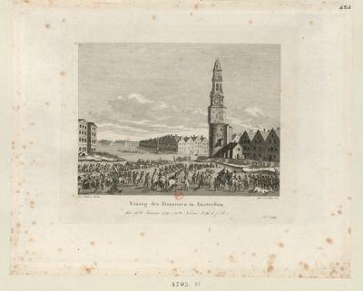 Einzug der Franzosen in Amsterdam den 19 ten Januar <em>1795</em>... : [estampe]