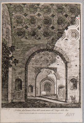 Basilica di Costantino, veduta della navata destra