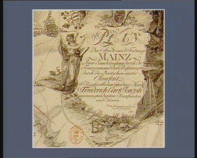 [Cartouche de <em>Plan</em> der Stadt und Festung Mainz ihrer Einschliessung durch die Franzosen und der Befreuing durch die Deutschen unter Clairfait...] [estampe]