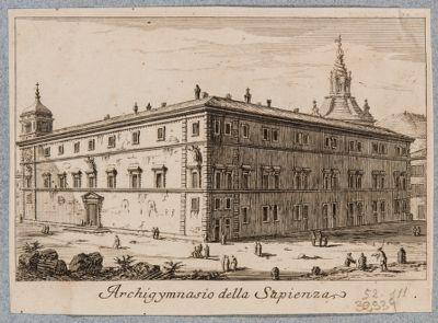 Palazzo della Sapienza, esterno. Veduta generale dall'angolo di via Oberdan