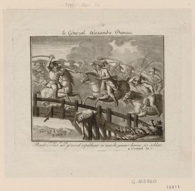 Le  Général Alexandre Dumas rendez-vous : un général républicain ne marche jamais derriere ses soldats. 4 germinal an 5 : [estampe]