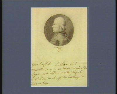 Jean-Baptiste Bottex né à Neuville sur Aisn en Bresse, diocèse de Lyon, curé du dit Neuville député de l'ordre du clergé du baillage de Bourg-en-Bresse : [dessin]