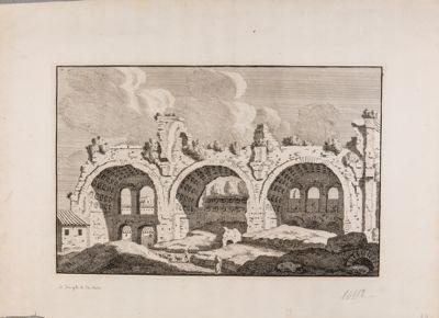 Basilica di Costantino, veduta di tre archi