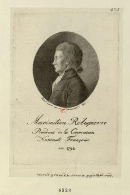 Maximilien Robespierre president de la Convention nationale françoise en 1794 [estampe]