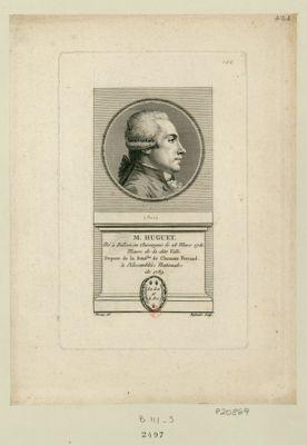 M. Huguet né à Dillon en Auvergne le 28 mars 1751 maire de la dite ville depute de la séné.see de Clermont Ferrand, à l'Assemblée nationale de 1789 : [estampe]