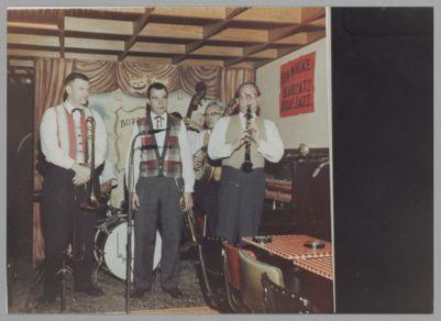 Bob Mielke's Bearcats: Bob Mielke, Bill Erickson, Dick Oxtot, Bill Napier at Burp Hollow