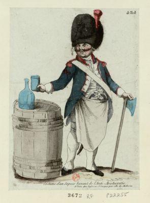 Costume d'un sapeur buvant de l'anti-aristocratie [estampe]