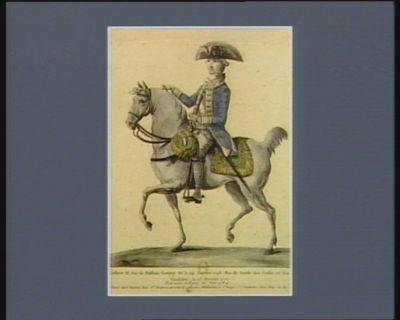 <em>Gustave</em> <em>III</em> Duc de Holstein Gottorp né le 24 janvier <em>1746</em> Roi de Suede des Goths et des Vandales. le 13 février 1771. Est venu à Paris en juin 1784 : [estampe]