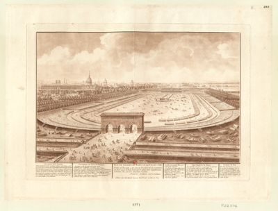 Vue du <em>Champ</em> <em>de</em> <em>Mars</em>, le 14 juillet 1790 [estampe]