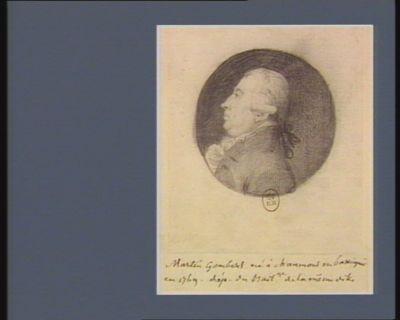 Martin Gombert né à Chaumont-en-Bassigni en 1769 dép. du bail.ge de la même ville : [dessin]