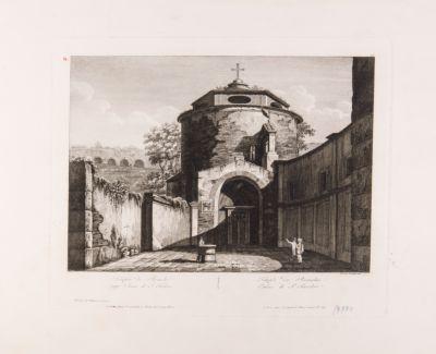 Chiesa di S. Teodoro, prospetto visto dal sagrato semicircolare che è davanti la chiesa stessa