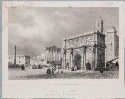 Arco di Settimio Severo, dettaglio del basamento