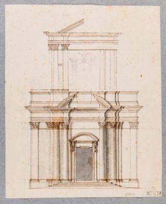 Chiesa di S. Andrea al Quirinale, progetto di facciata