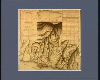 Carte militaire des environs de la ville de Bastia en Corse [dessin]