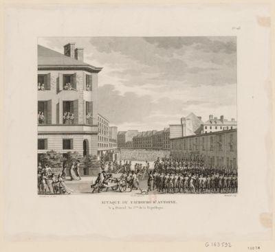 Attaque du fauxbourg Antoine le 4 prairial an 3.eme de la République : [estampe]