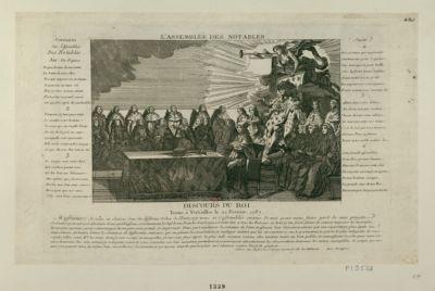 L' Assemblée des Notables tenüe à Versailles le 22 février 1787 : [estampe]
