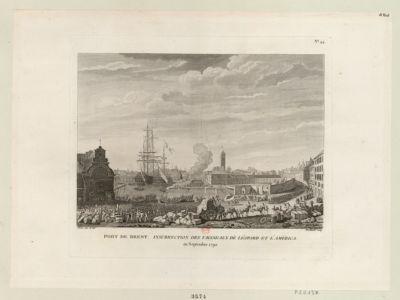 Port de Brest. Insurrection des vaisseaux de Léopard et L'America en septembre 1790 : [estampe]